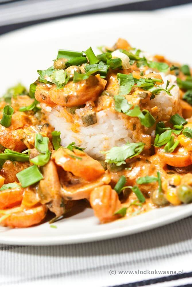 Warzywa na ostro w sosie curry