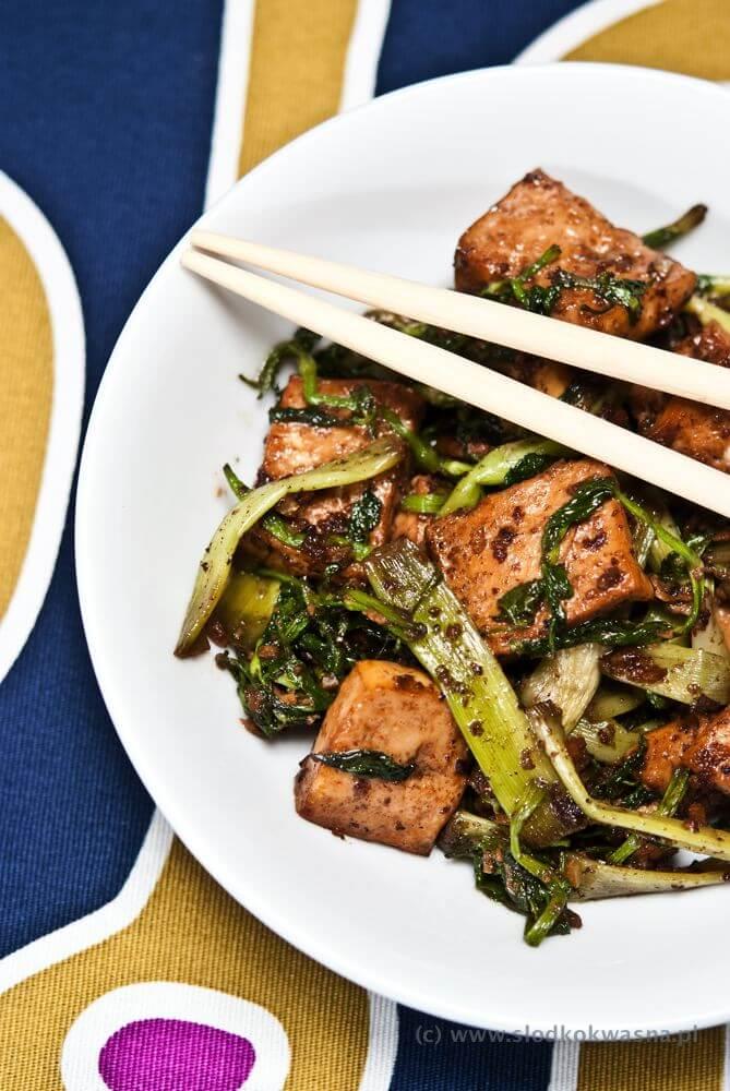 Smażone tofu z can ta