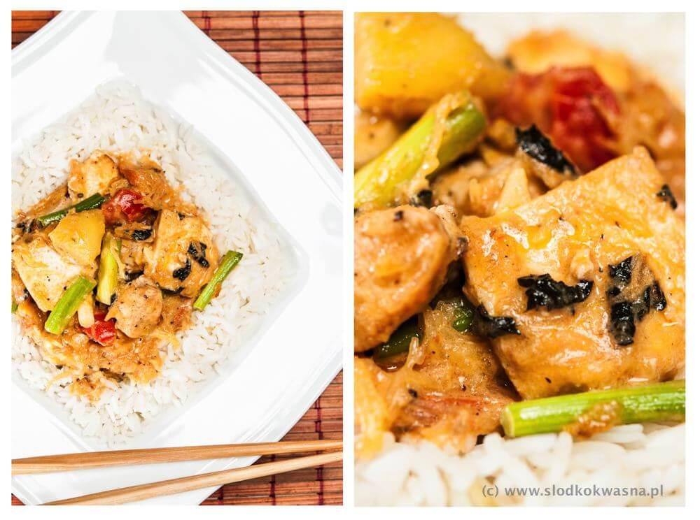 Curry z dynią, kurczakiem i tofu