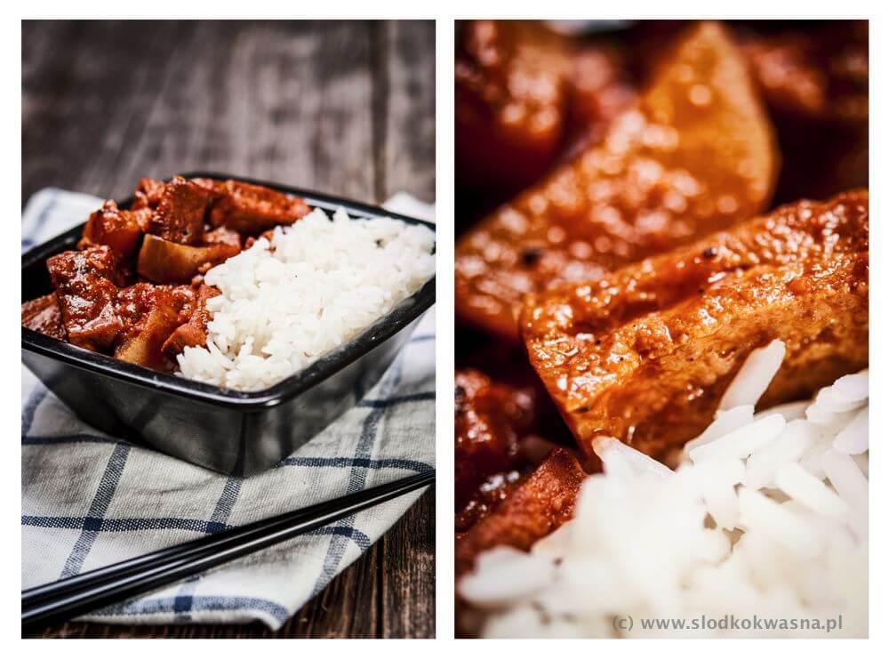 fot cookandwatch com tofu z rzodkwia w pomidorach Tofu, rzodkiew i pomidory