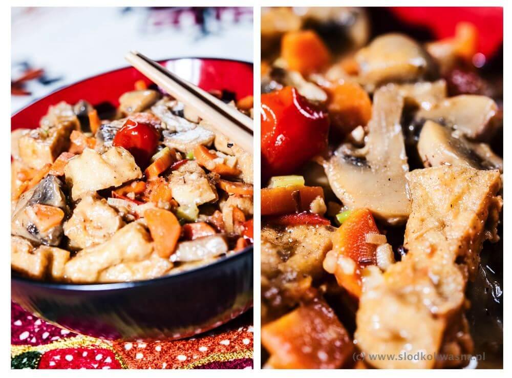 Curry z tofu i pieczarkami