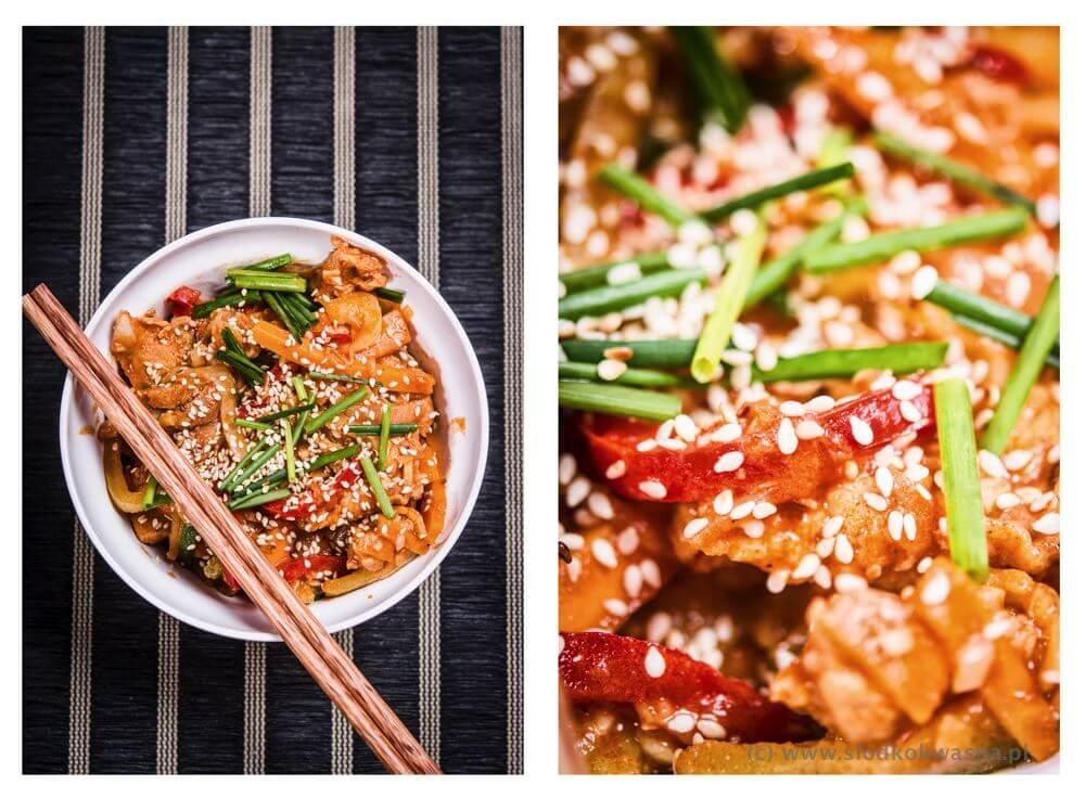 fot cookandwatch com mieso z warzywami koreanskie Kuchnia koreańska: wieprzowina z warzywami