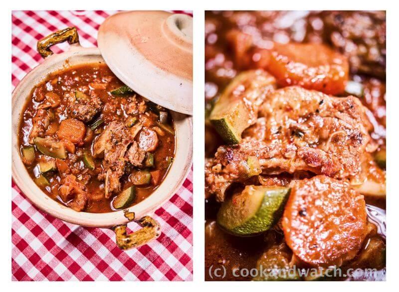 fot cookandwatch com potrawka z zeberkami cukinia i marchewka Żeberka z wolnowaru
