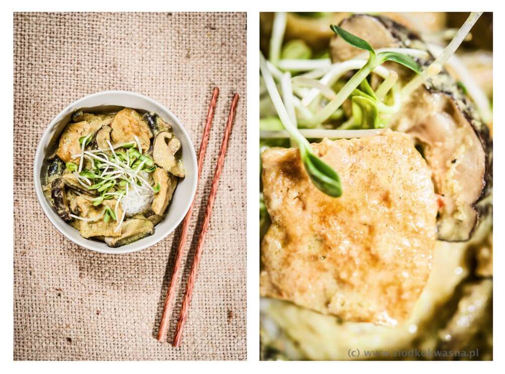 Curry z tofu i pachnącymi grzybamiCurry z tofu i pachnącymi grzybami