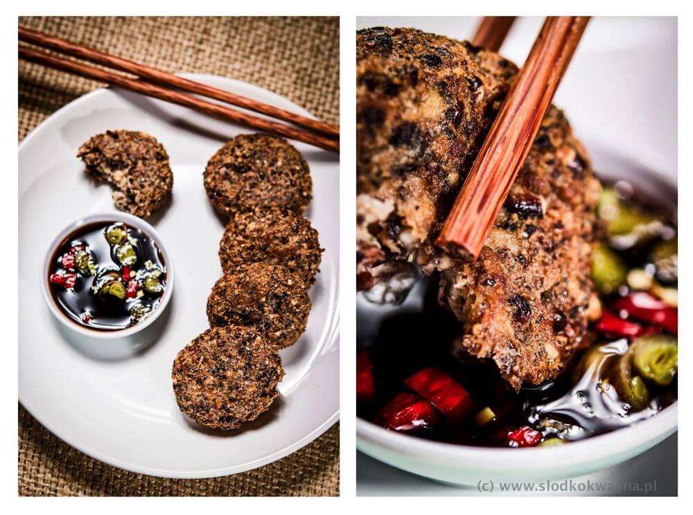 fot cookandwatch com kotleciki z ryzu czarnego tofu i grzybow Kotleciki z czarnego ryżu