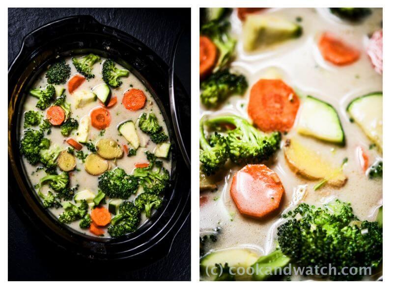 fot cookandwatch com curry warzywa wolnowar Curry z wołowiną, mango i warzywami.