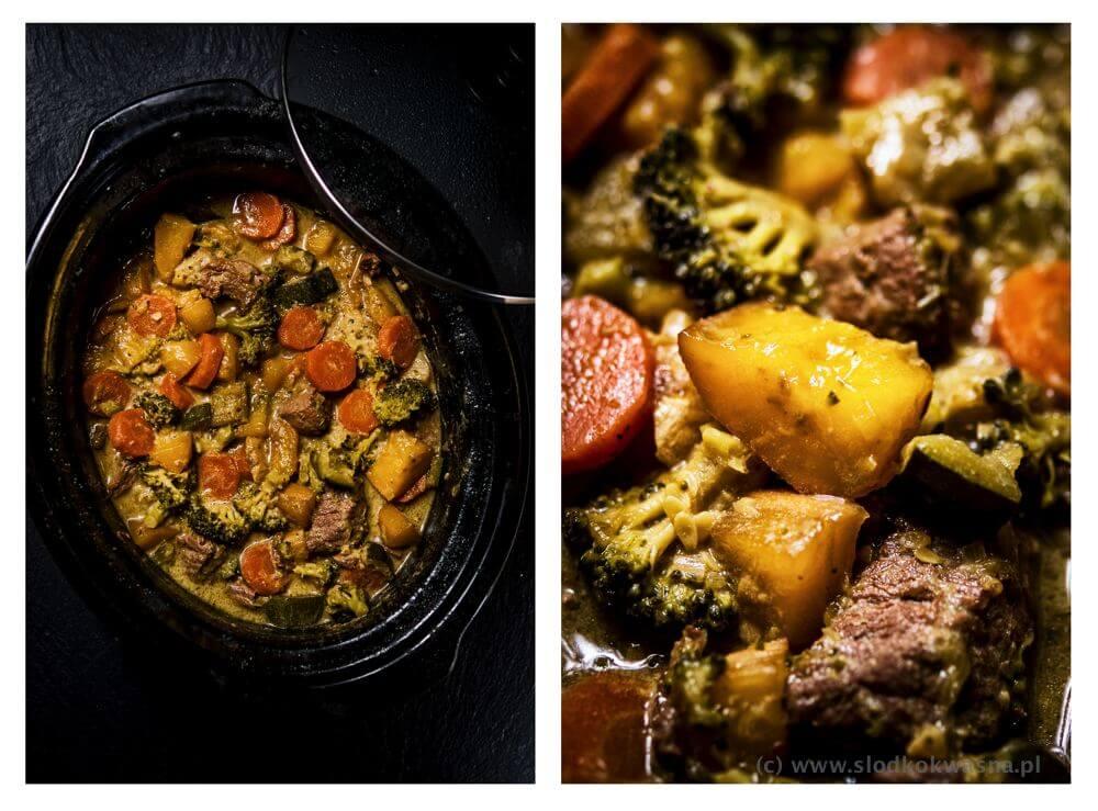 fot cookandwatch com curry z mango wolowina i warzywami Curry z wołowiną, mango i warzywami.