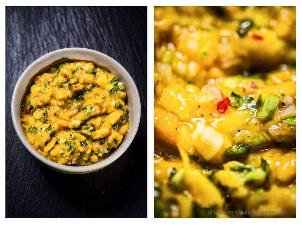 fot cookandwatch com mango czatnej z tajska kolendra Mango chutney z tajską kolendrą