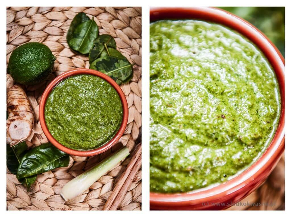 fot cookandwatch com zielona pasta curry Zielona tajska pasta curry