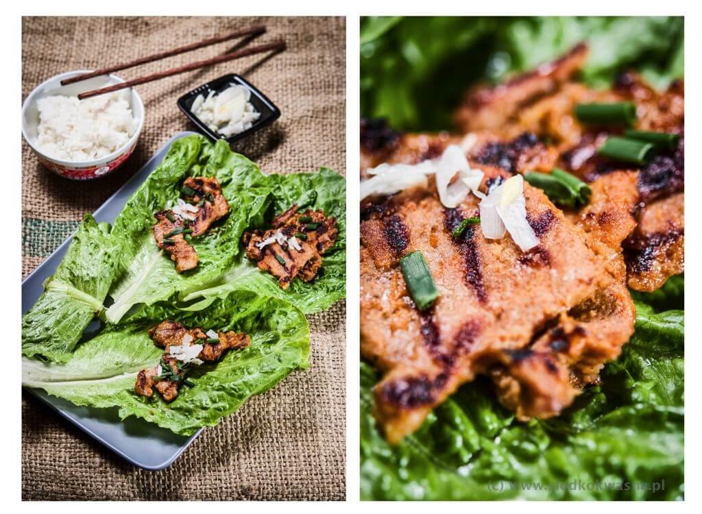 fot cookandwatch com dwaejibulgogi gotowe danie Wieprzowina po koreańsku z grilla dwaejibulgogi