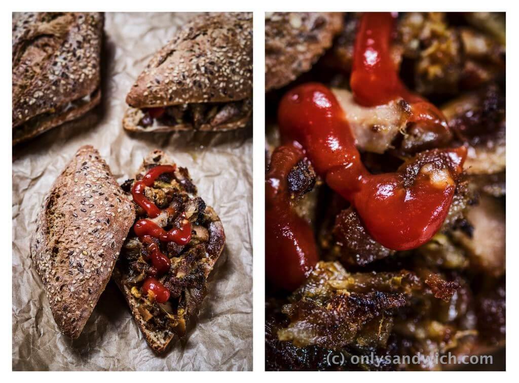 fot cookandwatch com kanapka z zeberkiem Żeberka z wolnowara grillowane w orientalnych świeżych przyprawach