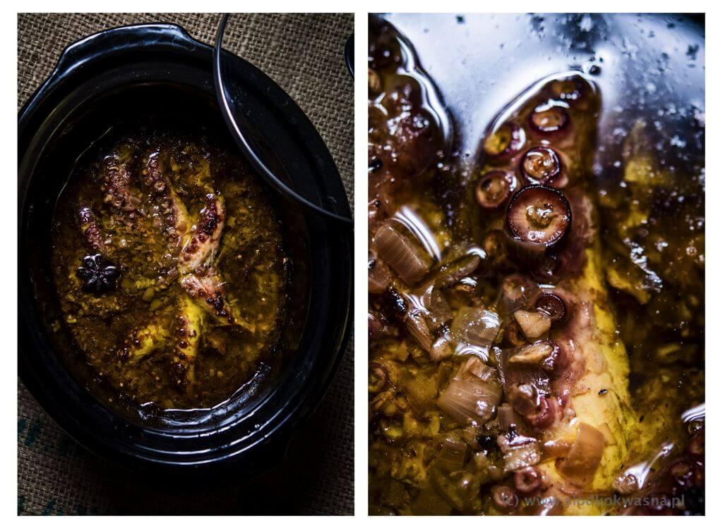 fot cookandwatch com osmiornica wolnowar po Ośmiornica w oliwie z wolnowara