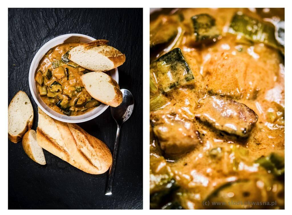 fot cookandwatch com curry z cukinia porem i stekiem wolowym Curry z cukinią, porem i stekiem z rostbefu