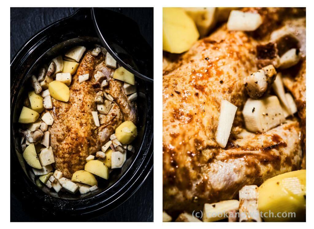 fot cookandwatch com perliczka z warzywami wolnowar Perliczka z ziemniakami i pietruszką