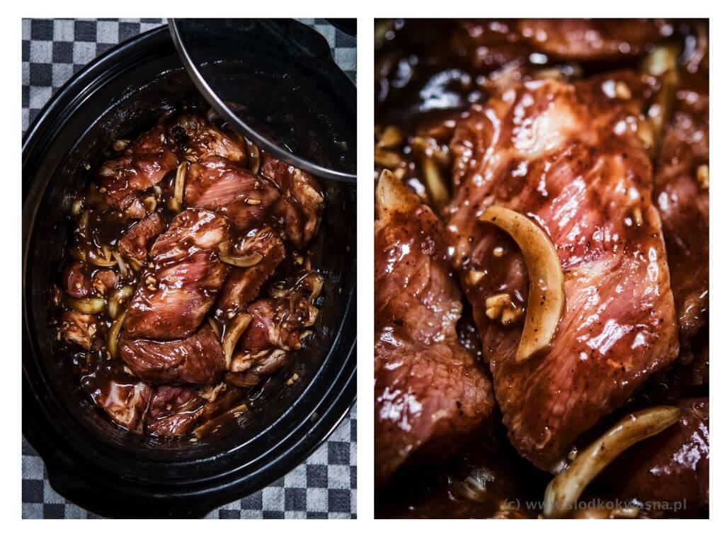 fot cookandwatch com zeberka w sliwkowym sosie Duszone w wolnowarze żeberka w ostrym sosie śliwkowym