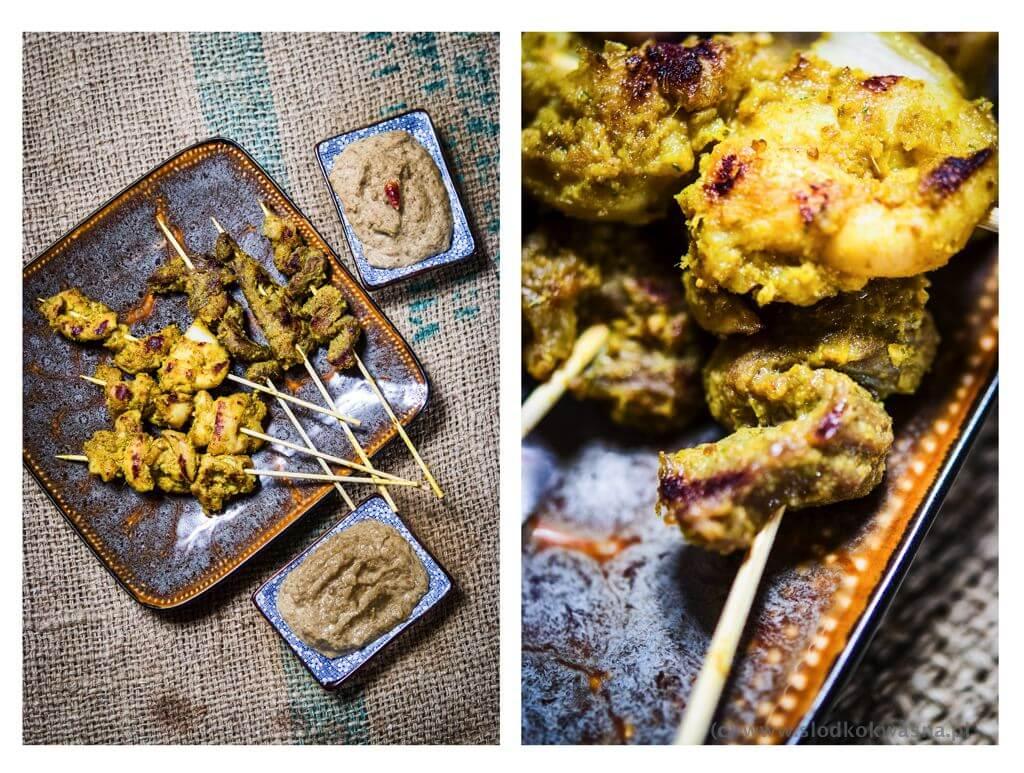 fot cookandwatch com sataye z sesem orzechowym Sataye z kurczaka i wołowiny z sosem orzechowym
