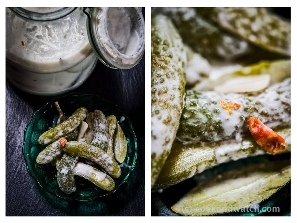 fot cookandwatch com ogorki kiszone w mleku kokosowym z chili imbirem i czosnkiem Ogórki kiszone w mleku kokosowym