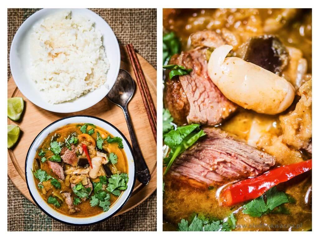fot cookandwatch com czerwone curry z kaczka i liczi i baklazanem Curry czerwone z kaczką, liczi i bakłażanem
