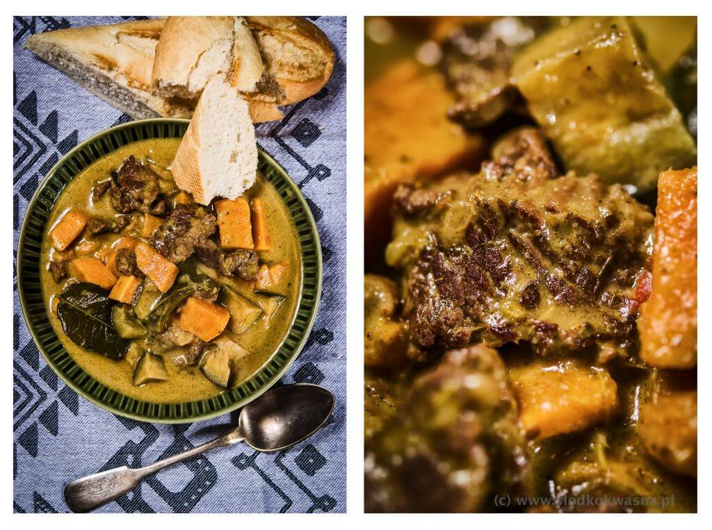 fot cookandwatch com curry wolowina batat baklazan Curry pomarańczowe z wołowiną, batatem i bakłażanem