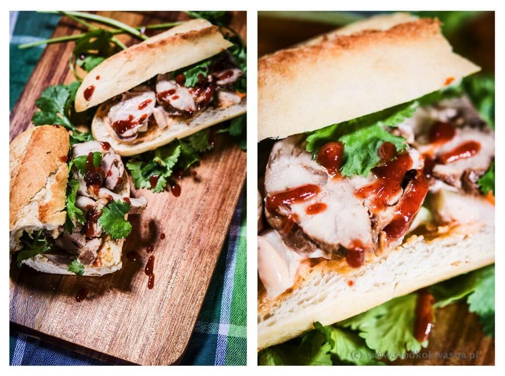fot cookandwatch com banh mi z rolada z kurczaka2 Rolada z kurczaka i wietnamska kanapka banh mi
