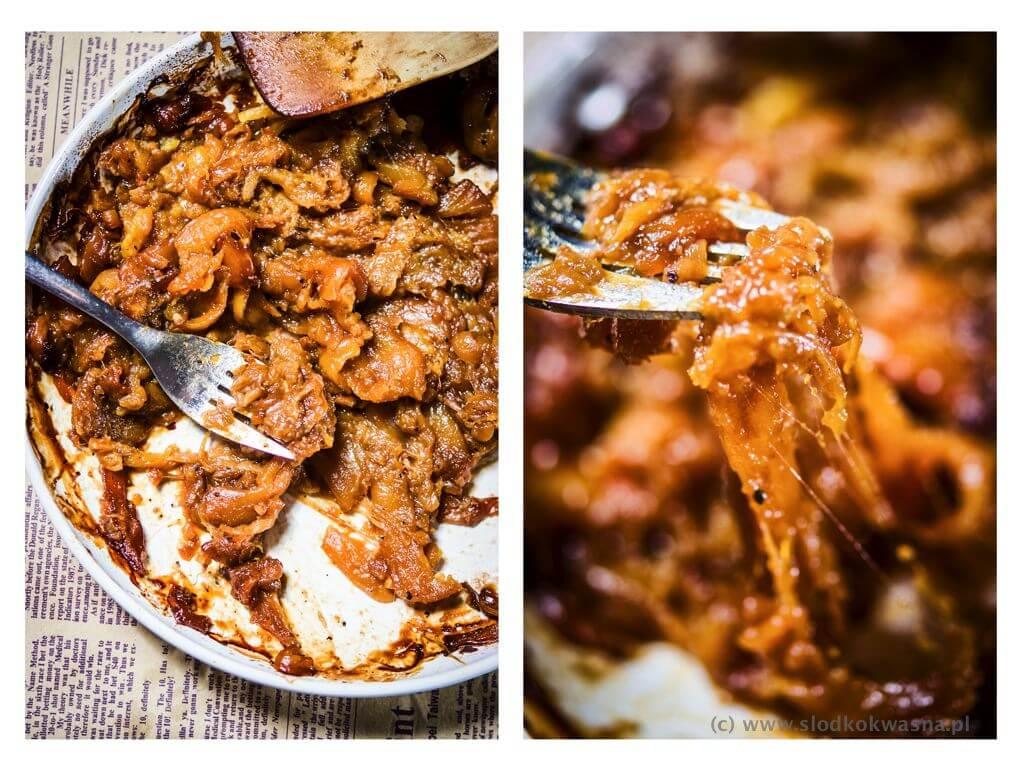 fot cookandwatch com pulled jackfruit chlebowiec szarpany Szarpany chlebowiec czyli pulled jackfruit
