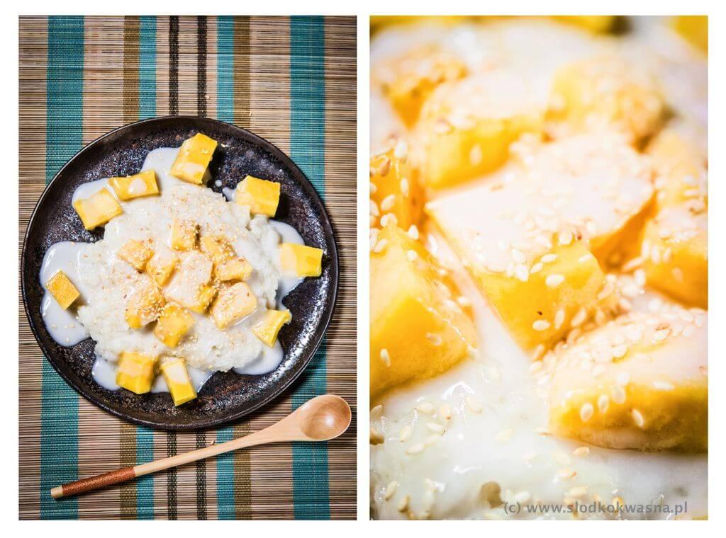fot cookandwatch com Mango sticky rice ryz kleisty z mango i mlekiem kokosowym Mango sticky rice czyli ryż kleisty z mango i mlekiem kokosowym