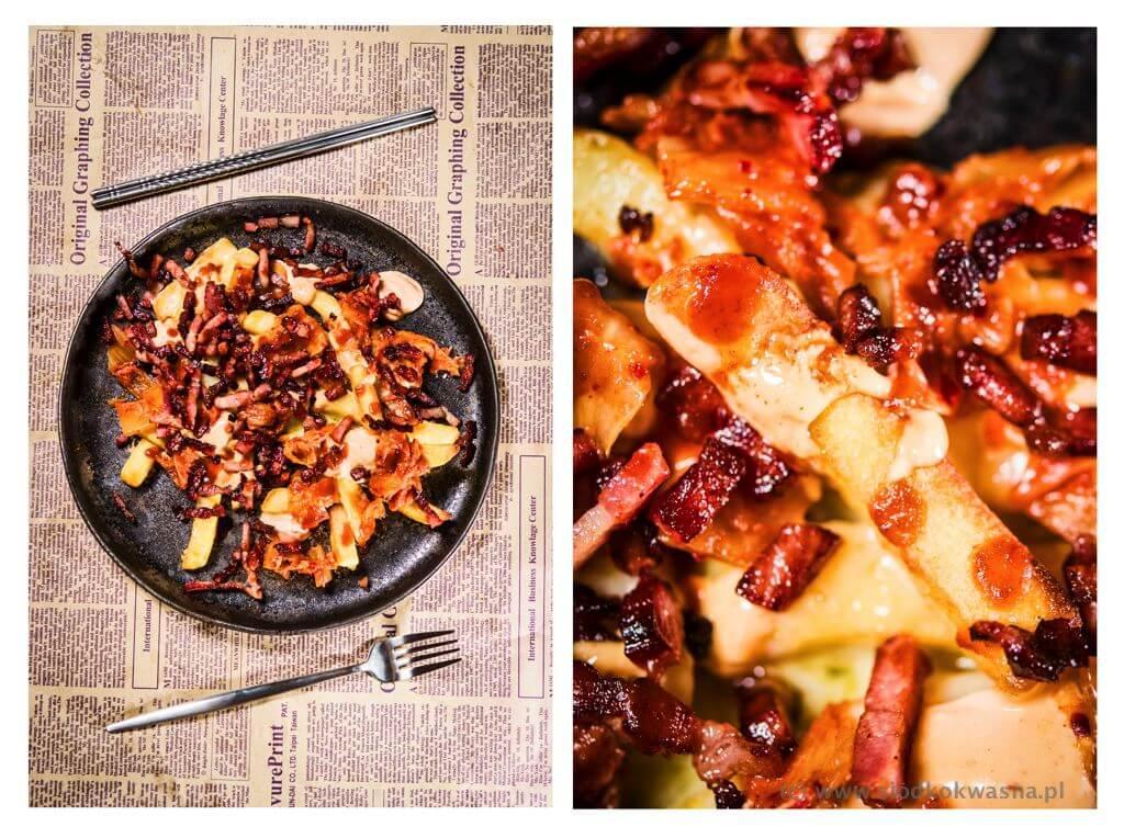 fot cookandwatch com fryty cheddar sos kimchi boczek kogutek Frytki na wypasie kfries i inne