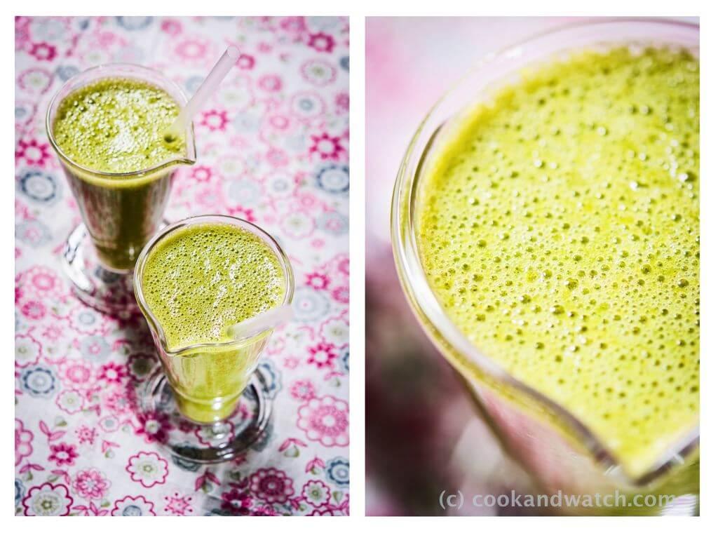 fot cookandwatch com koktajl banany sok z pomaranczy kolendra kurkuma w proszku Koktajl z kolendrą. Ale nie tylko ;)