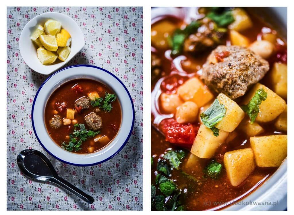 fot cookandwatch com zimowa zupa z ciecierzyca ziemniakami i pulpetami wołowymi z garam masala 02 Zupa z cieciorką, garam masala i kulkami wołowymi