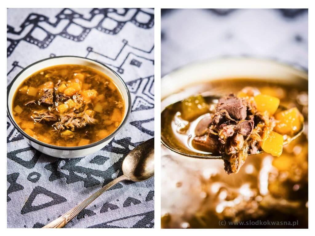 fot cookandwatch com zupa na jagniecinie z dynia i watrobka Zupa na jagnięcinie, z wątróbką i dynią