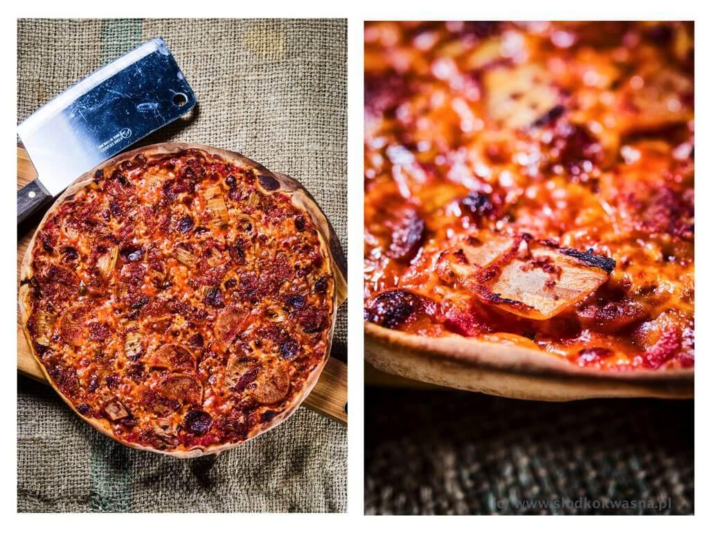 fot cookandwatch com pizza kimchi chorizo 001 Pizza z kimchi i chorizo