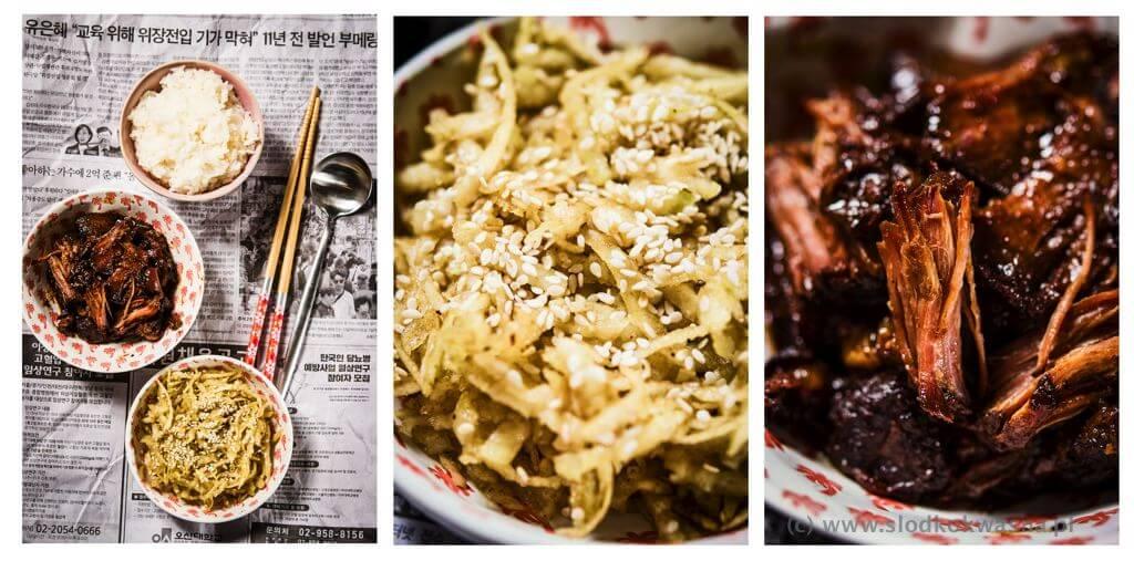 fot cookandwatch com wolowina z wolnowara z koreanskim stylu wyserwowana z ryzem kleistym i kalarepa z olejem z dyni i sezamem Pręga wołowa z wolnowara