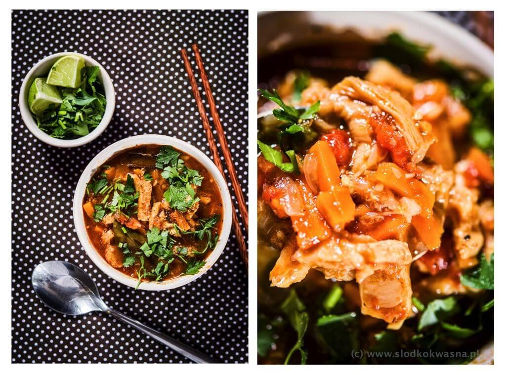 fot cookandwatch com flaki z pomidorami zatarem sosem rybnym i kaffirem 002 Flaki z azjatyckim sznytem