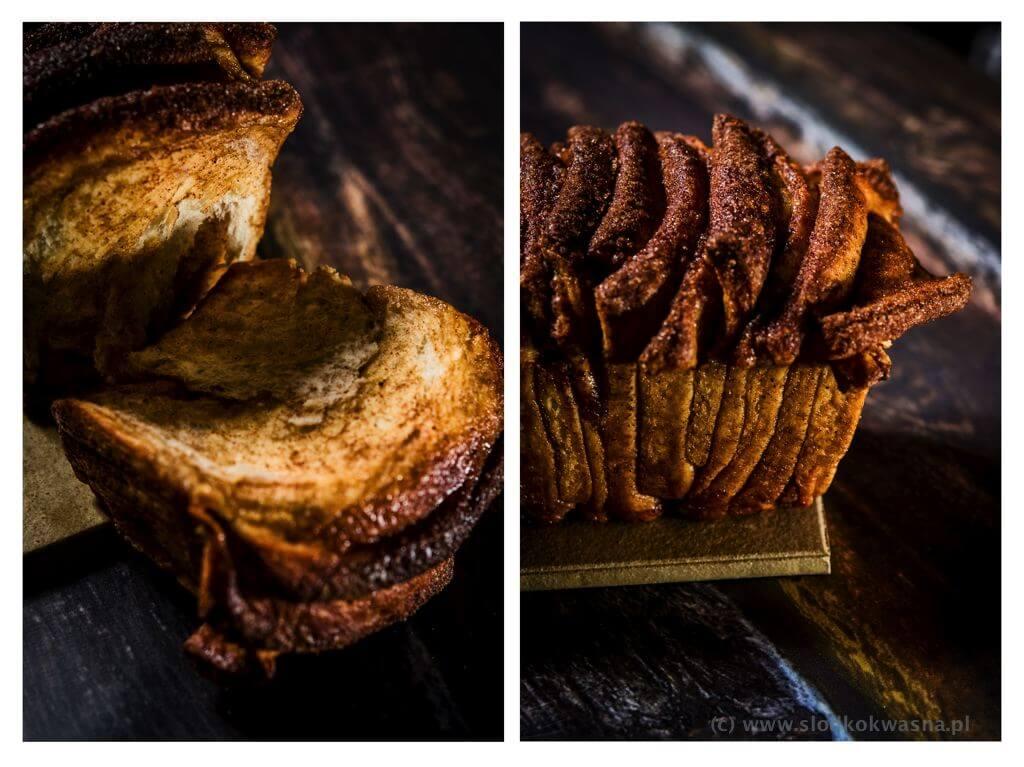fot cookandwatch com cynamonowiec 003 Cynamonowiec czyli cynamonowe ciasto drożdżowe do odrywania