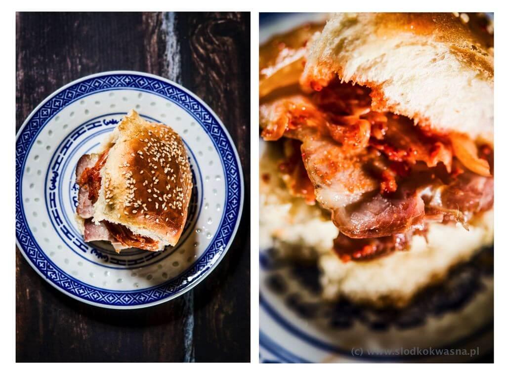 fot cookandwatch com kanapka chalka maslo majonez boczek kimchi 002 Przepis na chałkę