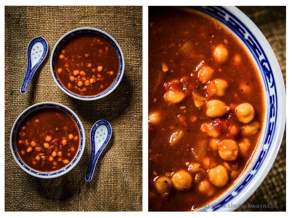 fot cookandwatch com weganska zupa z cieciorka 001 Szybka wegańska zupa z cieciorką