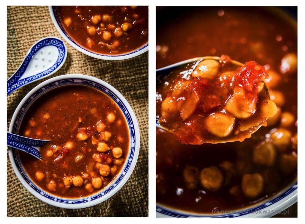 fot cookandwatch com weganska zupa z cieciorka 002 Szybka wegańska zupa z cieciorką
