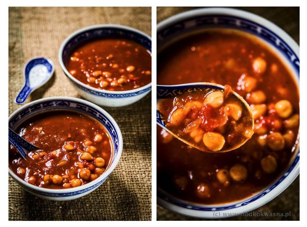 fot cookandwatch com weganska zupa z cieciorka 003 Szybka wegańska zupa z cieciorką