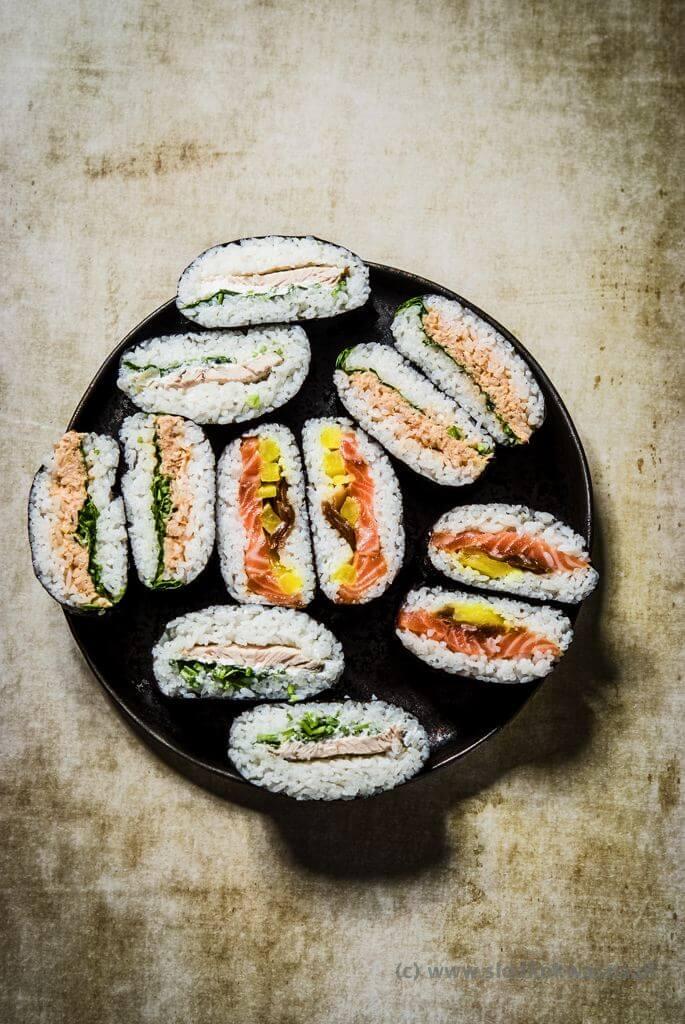 fot cookandwatch com DSCF2469 Onigirazu czyli ryżowe kanapki