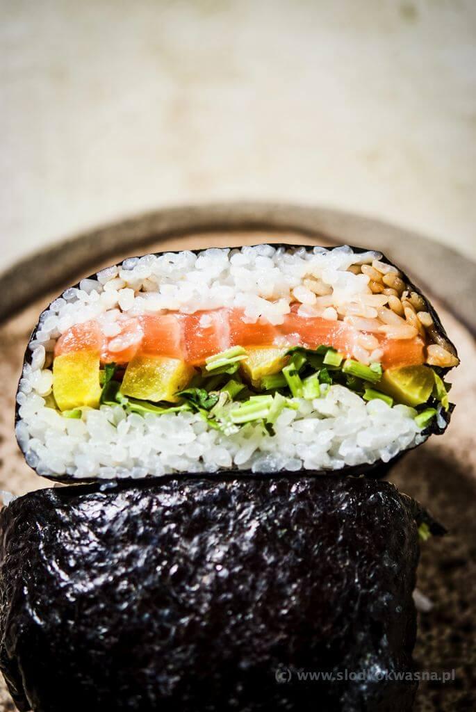 fot cookandwatch com DSCF2500 Onigirazu czyli ryżowe kanapki
